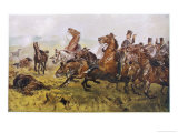 The Charge of the Light Brigade, Lord George Paget Heads the 4th Light Dragoons Giclee Print by John Charlton