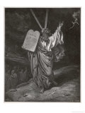 Moses Descends from the Mountain Carrying the Tables of the Law Giclee Print by Gustave Dor&#233;