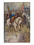 Cromwell Rallies His Men Giclee Print by Henry Justice Ford
