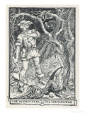 The Woodcutter in the Tontlawald Giclee Print by Henry Justice Ford