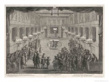 Interior of a Synagogue, The Rabbi Blesses the People Giclee Print by Dom Augustin Calmet