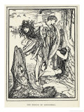 Perseus Rescues Andromeda from Being Sacrificed to the Monstrous Fish Giclee Print by Henry Justice Ford