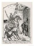 The Winning of Olwen Kilwch Arrives at the Gate of Arthur's Palace Giclee Print by Henry Justice Ford