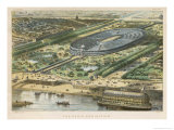 Bird's-Eye View of the Site of the Exhibition Erected on the Champ De Mars Giclee Print by Vincent Brooks