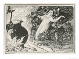 The Evil Spirits Drag the Girl into the Cauldron Giclee Print by Henry Justice Ford
