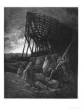 Noah Builds His Ark Premium Giclee Print by Gustave Doré
