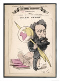 Jules Verne French Science Fiction Writer Premium Giclee Print by André Gill
