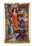 The Tontlawald Feeds a Snake into a Hole in the Clay Doll's Breast Giclee Print by Henry Justice Ford
