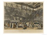 Jack Randall Sparring with Turner in the Fives Court Giclee Print by Tom Blake