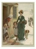 Christmas Charity 1886 Giclee Print by John Charlton
