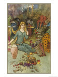 Goblins and Their Magic Fruit Giclee Print by Warwick Goble
