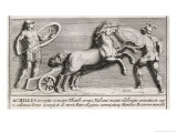 Achilles Rejoins the Fighting and Confronts Hector Giclee Print by Pietro Santi Bartoli