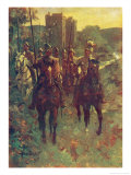 Scottish Reivers Setting out to Raid Cattle Across the Border with England Giclee Print by Allen Stewart