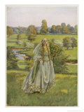 She Walks Through the Meadows Giclee Print by Eleanor Fortescue Brickdale