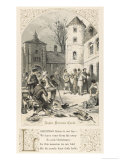 Carol Singers in the Courtyard of a Medieval Castle Giclee Print by Birket Foster