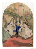 Children Dressed in Their Best Clothes for a Party Giclee Print by Alfred Concanen
