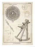 Astrolabe and Quadrant, Giclee Print