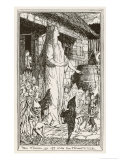 Fairies Abduct a Farmer's Wife Giclee Print by Henry Justice Ford