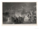 The Arrival of Queen Elizabeth I on 19th July 1575 with Much Pomp Giclee Print by W. Floyd