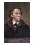 Frederic Chopin Polish Musician Premium Giclee Print by Leo B. Eichhorn