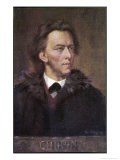 Frederic Chopin Polish Musician Giclee Print by Leo B. Eichhorn
