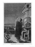Alexandria Observatory: an Astronomer Using a Pre- Telescopic Sighting Instrument Reproduction procédé giclée par George Billerger