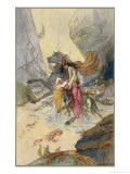Knight and Maiden at the Bottom of the Sea Giclee Print by Warwick Goble