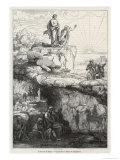 "In Plato's ""Republic"" Socrates Likens Mankind to Prisoners in a Cave Impression giclée par  Chevignard"