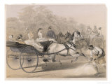 Horses and Carriages Charge Down the &quot;Mall&quot; (The Principal Thoroughfare) of the Station Giclee Print by Captain G.f. Atkinson