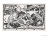 The Faithful Beasts Weep Around the Body of the Dead Prince Giclee Print by Henry Justice Ford