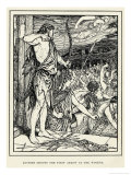 Odysseus Shoots the First Arrow at the Suitors Giclee Print by Henry Justice Ford