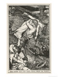 Farmer Rescues His Wife from the Fairies Who Have Abducted Her Giclee Print by Henry Justice Ford