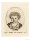 King Henry VIII King of England 1509-1547 as a Young Prince Giclee Print by Francesco Bartolozzi