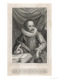 Miguel De Cervantes Spanish Novelist Giclee Print by Francesco Bartolozzi