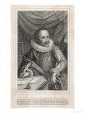 Miguel De Cervantes Spanish Novelist Giclee Print by Francesco Bartolozzi