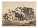 Travelling in an Indian Carriage, Natives Beat the Horse Giclee Print by Captain G.f. Atkinson