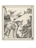 Ferko Leads the Wolves On Giclee Print by Henry Justice Ford