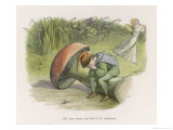An Elf-Fairy Romance: She Runs Away and This is His Condition Giclee Print by Richard Doyle