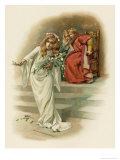 Hamlet, Ophelia Crazed Giclee Print by Harold Copping