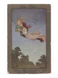 Peter Pan and Wendy Fly to Never-Never Land Reproduction procédé giclée par S. Barham