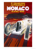 Monaco Grand Prix, 1930 Reproduction procédé giclée par Robert Falcucci