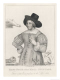 Mary Frith Nicknamed Moll Cutpurse English Pickpocket and Forger Giclee Print by Robert Cooper