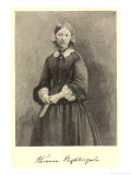 Florence Nightingale Nurse Hospital Reformer and Philanthropist Reproduction proc&#233;d&#233; gicl&#233;e par Timothy Cole