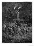 Horned Devil Presides Over the Sabbat Giclée-tryk af Emile Bayard