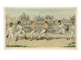 Fight Between Jack Randall and Martin the Baker Giclee Print by W.e. Downing