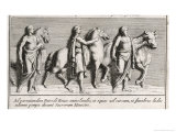 The Funeral Rites of Patroclus Giclee Print by Pietro Santi Bartoli
