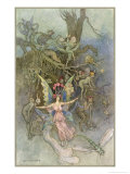 Fairies and Other Creatures Giclee Print by Warwick Goble