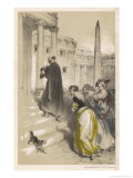 Loyola and Courtesans Giclee Print by Theophile Fragonard