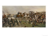 Napoleon Among His Men as the Battle Draws to a Close and He Faces Defeat Giclee Print by Ernest Crofts