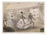 Dancing at an English Station Ball Giclee Print by Captain G.f. Atkinson